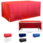 Custom 8' 3-Sided Economy Open Corner Table Covers & Table Throws (BLANK) / Fit 8 Foot Table