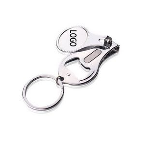 Round Nail Clipper With Bottle Opener