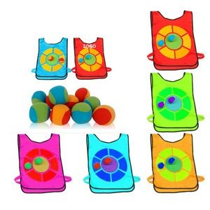 Shooting Toy Ball Sticky Ball Target Vest Set