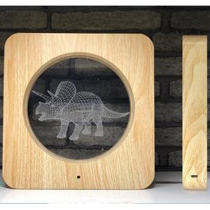 Wood Grain Photo Frame with LED light