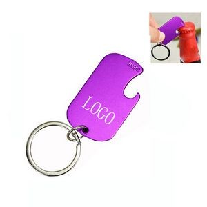 Metal Tag Bottle Opener With Keychain