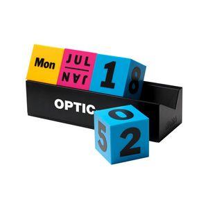 MoMA Cubes Perpetual Calendar (Yellow, Pink & Blue Cubes)