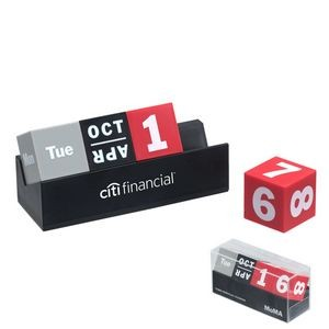 MoMA Cubes Perpetual Calendar (Gray, Black & Red Cubes)