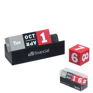 MoMA Cubes Perpetual Calendar (Gray, Black & Red Cubes)