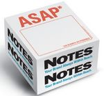 Custom Knock Knock Stik-Withit Half Size Note Cube Notepad (3 3/8