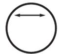 Custom Extra Large Stik-Withit Stock Die-Cut Circle Notepad