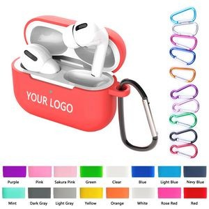 Ultra-Thin Silicone Wireless Ear Pods Case With Carabiner - Pro