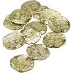 Custom Gold Plastic Doubloons
