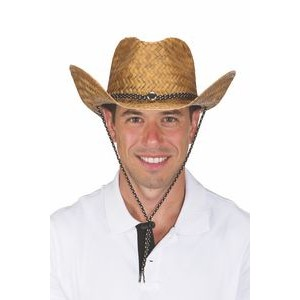 Cocoa Straw Cowboy Hat