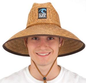 Cocoa Straw Lifeguard W/Chin Cord & Sliding Cord Lock