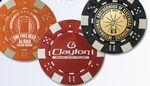 Custom Dice Poker Chips (Gold Foil Stamped)