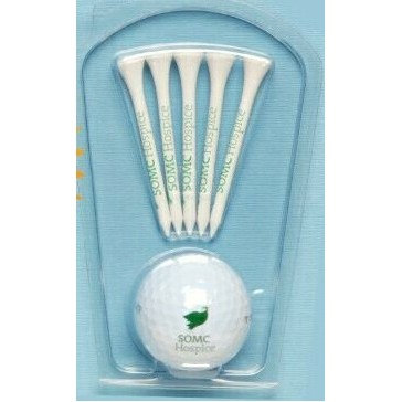 "Best Buy Junior Caddy Golf Pack w/ Golf Ball & Five 2 1/8"" Tees"
