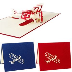 Airplane Shape 3D Pop Up Greeting Cards