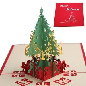 Christmas Tree 3D Pop Up Greeting Cards