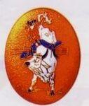 Custom Bull Rider Cloisonne Western Belt Buckle