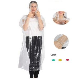 Protective Disposable PE Raincoats with Cap