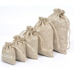 Custom Drawstring Linen Bag/Jute Pouch