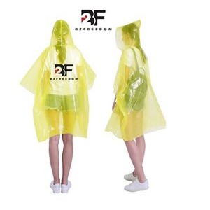 Rain Poncho Disposable Emergency Rain Ponchos for Men, Women & Teens In Stock