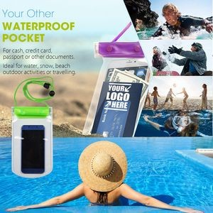 Snap Closure Waterproof Phone Case With Sealing Strips
