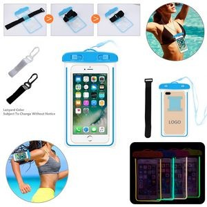 Luminous Waterproof Phone Pouch With Arm Band