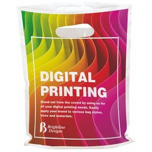 "Digital Full Color Die Cut Plastic Bag (7.5""x9"")"