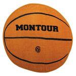 Custom Fiber Reactive Basketball Shaped Sport Towel (Screen Print)
