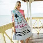 Custom Silver Distressed Stock Design Beach Towel