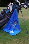 Custom Diamond Collection Golf Towel w/ Corner Grommet (Screen Print)