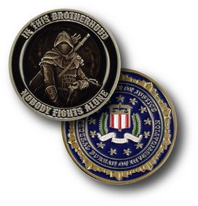 1 5/8 Custom Challenge Coin Double Sided Struck Brass