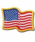 Custom Stock Wavy American Flag Patch