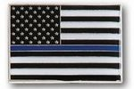 Custom Stock Police Law Enforcement Support USA Flag Pin