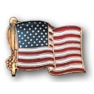 Stock US American Flag Pin