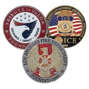 "3"" Custom Challenge Coin Double Sided Cast Zinc Alloy"