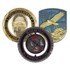 "2"" Custom Challenge Coin Double Sided Cast Zinc Alloy"