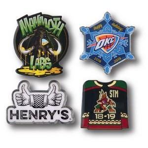 "1 1/8"" Overseas Photo Printed Lapel Pins"