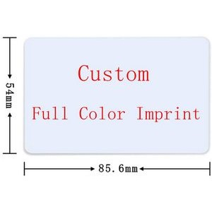 Double Side Printable 30Mil PVC Plastic Credit Gift Photo ID Cards with White Color