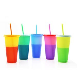 24oz Reusable Plastic Cold Drink Cups