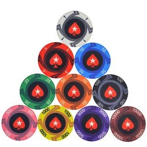 Composite Clay Dice Striped Dice Style Professional Poker Chip