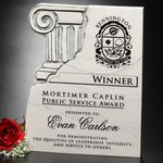 Custom Chiseled Column Plaque 8
