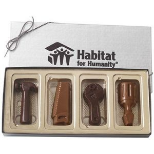 Molded Chocolate 4 Tools in Gift Box