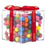 Custom Acrylic Gift Jars Cube with Mini Gumballs