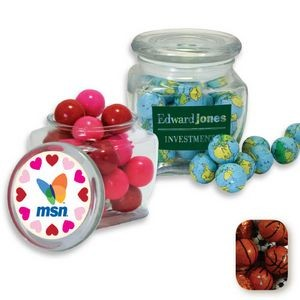 Reusable Glass Spice Jar Filled w/ Chocolate Earth Balls