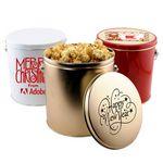 Custom 1 Gallon Gift Tin w/Caramel Popcorn