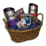 Custom Deluxe Travel Mug Gift Basket