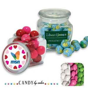 Reusable Glass Spice Jar Filled w/ Chocolate Buttons