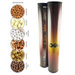 Custom Gift Tube of Savory Treats - 6 Piece