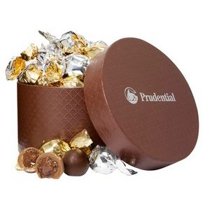 Small Hat Box with Twist Wrapped Truffles (24 Pieces)