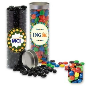 Silver Top Tube Filled w/ Assorted M&M's