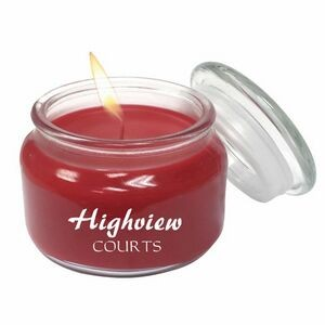 Aromatherapy Wax Candle 8oz Glass Apothecary Jar