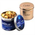 Custom Round Tin w/Caramel Popcorn
